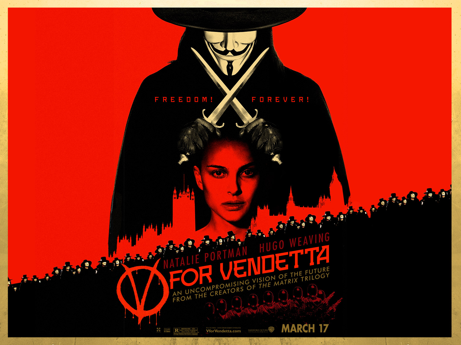 V For Vendetta Movie Poster Movie and Comic...